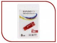 USB Flash Drive 8Gb - Exployd 560 Red EX-8GB-560-Red
